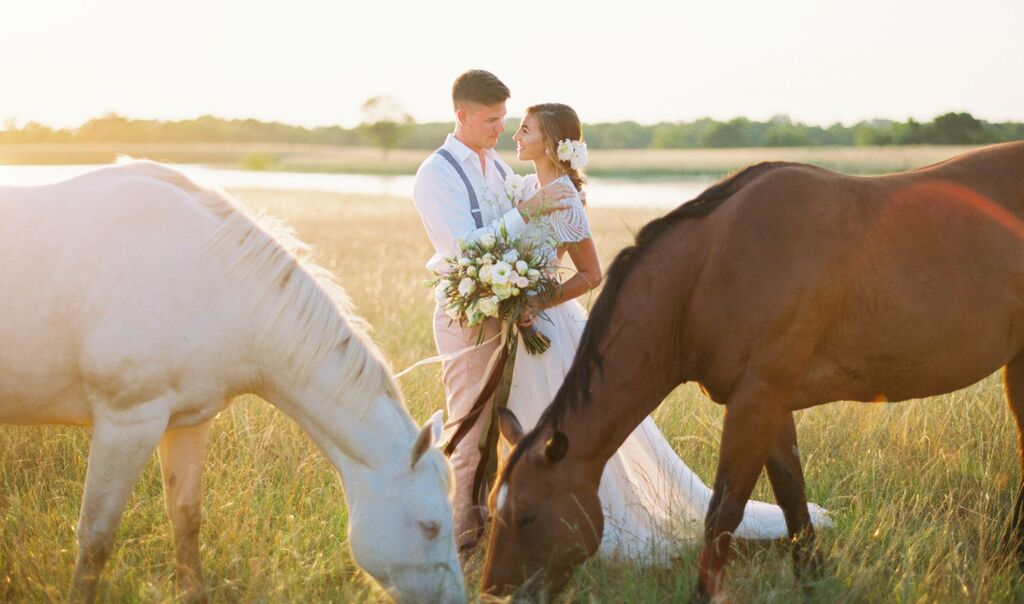 southern-equestrian-wedding-couple