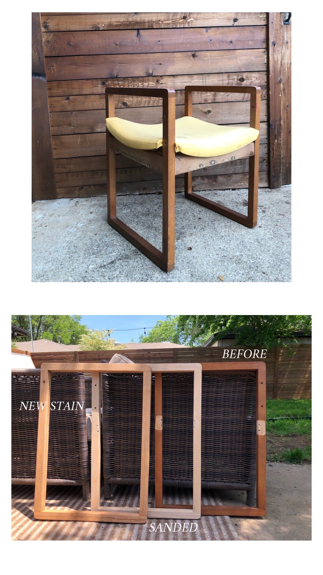 Before and after of a chair